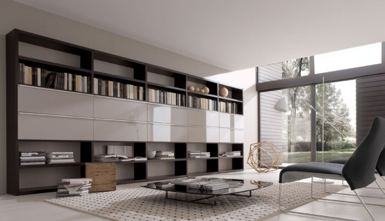 19 Modern Living Room Wall Units For Book Storage From Misuraemme