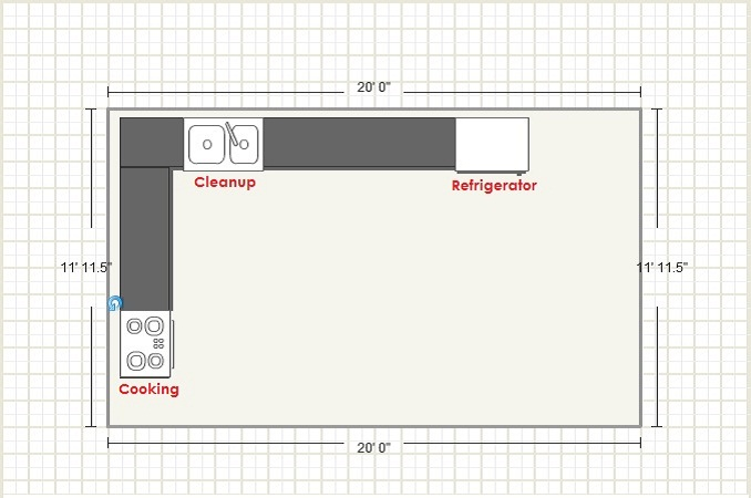 L-Shaped Kitchen Design Layout. Versatile ...